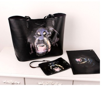free shipping vicious dog Kobold package printing portable shoulder handbags tide package
