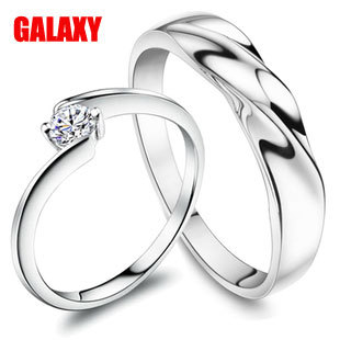Free shipping 925 silver lover&#39;s rings Fashion ringing for wedding&#39;s gift jewelly(China (Mainland))