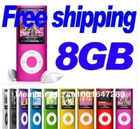 Free shipping Christmas present Portable 4th Gen MP3 MP4 Player 8GB with earphone, USB cable and retail box Hot Sale