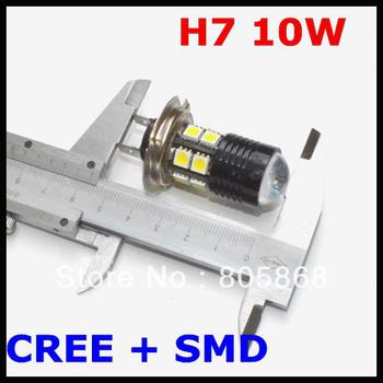 H7 10W LED Fog Light, Headlight, CREE Fog Lamp, Q5+ 12 SMD=10W Fog Light Car Led Bulb H7,H8,H9,H10,H11,9005,9006