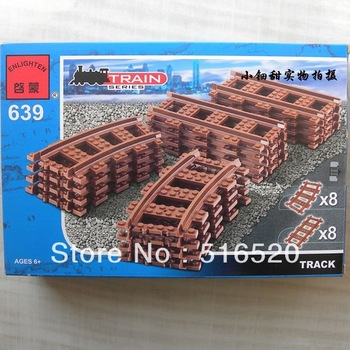 Enlighten Train Series Track Building Blocks 16pcs Educational DIY Construction Bricks toys for children 639