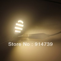 Free Shipping DC 12V 5pcs Warm White/Day White G4 24 SMD 3528 LED Spotlight For Home