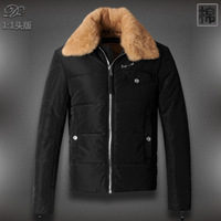 Free Shipping  New Brand Top Quality Down Cotton Rabbit Fur Splicing Man's Coat Winter Jacket,Mens wadded jacket,DXY323