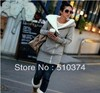New Fashion knitting WY-004 Korea Women Hoodies Coat Warm Zip Up Outerwear Sweatshirts 2 Colors Black Gray FREE SHIPPING 1PC/LOT(China (Mainland))