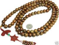 Tibetan 108 Natural Sandalwood Prayer Beads Mala AA