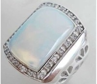 Blue Fire Opal Silver Men's  Size: 8.9.10.11.12
