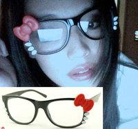 Popular design Hello kitty glasses bow plain mirror 9310 8 12pcs/lot Free shipping