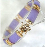 Stunning purple jade Jewellery bracelet bangle 7.5inch