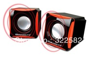square small audio desktop mini 2.0 speaker usb laptop mini speaker 2.0 Speakers for computer and other portable audio player
