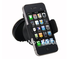 Car stand Universal 360 Degree Car Mount Holder For Samsung Galaxy S3 i9300 S4 i9500 Windshield Cradle Stand For iPhone 5/4/4S(China (Mainland))