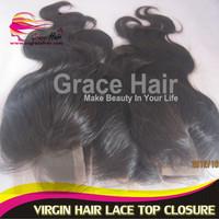 Top grade Natural virgin hair lace top closure