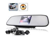 Complete Car Reversing Kit  Rearview Camera + Parking Sensor + Rearview Mirror