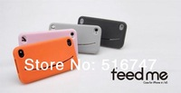 DHL free shipping lovely big smile face silicon silicone Case cover for iPhone 4S 4  50pcs/lot