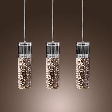 Livraison gratuite artistique lumière pendante avec 3 lumières.- cylindre. ombre.