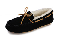 IVG Australia Suede Shearling Slip On Flat Boot black,purple sheepskin casual Shoe Womens