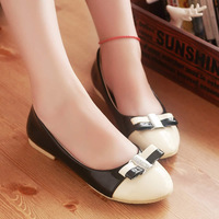 2013 spring women fashion boots flat bow japanned leather platform sneakers shoes , free shipping