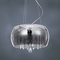 Free shipping Modern Crystal Pendant Light with 3 Lights (G9 Bulb Base)