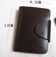 2013- Men's wallet man brief paragraph leather wallet man's wallet ticket holder dark brown...@WKK