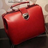 2012 new arrival fashion vintage doctor bag,mini women'shandbag,Fashion PU Bag