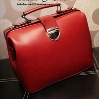 2012 new arrival fashion vintage doctor bag,mini women'shandbag,Fashion PU Bag