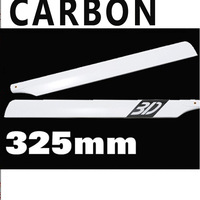 50pairs 325mm 325 Wholesale 3D 325mm Carbon Fiber main Rotor Blades for Align Trex rc Helicopter Blade