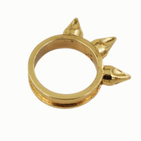 Wholesale Hot Sale Rings Antique Women's Punk Style Rivet Gold Plated Ring Fashion Jewelry Free Shipping DXYJ065