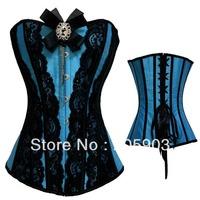 Free shipping 2012 Sexy underwear lingerie Wholesale 12pcslot Steel boned corset  Gothic Eyelash Overbust Corset 5263