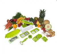 Fruit Slicer Green Vegetable Plus nicer dicer plus 10-piece Fruit  Vegetable Tools   Free shipping