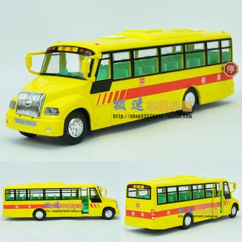 Good big school bus acoustooptical WARRIOR alloy car model