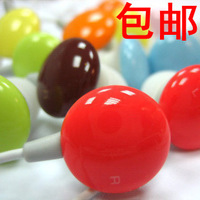 Candy color jelly beans heatshrinked in ear earphones mobile phone computer mp3 general