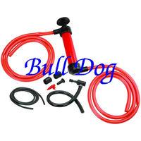 Free Shipping -- Portable Car Tire Water Oil Fuel Change Transfer Gas Liquid Pipe Siphon Tool Air Pump Kit