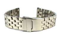 New Lug Width 22mm 24mm Solid Polished Stainless Steel Watch Band Flip-lock Clasp For Racing Series SS19