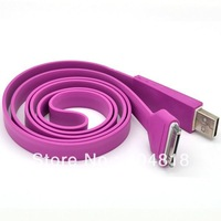 Free shipping 6-Pin Flat Hi Speed USB 2-In-1 Charging Data Sync Cable For iphone 4 4G 4S iPad 2 3 connecting to PC B412-B419