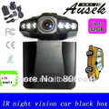 "New USB2.0 6 IR 1280P 2.5"" LCD Screen Car Truck Auto HD Night Vision Camera DVR freeshipping 198F"