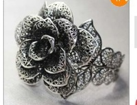 Charm Blooming Rose Miao Silver Bracelet
