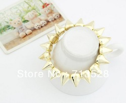Min order $10(Mix order) The Golden Bracelet Stretch personality free shipping(China (Mainland))