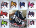 best selling size 25-35  fashion children canvas shoes children shoes kids sneakers  for boys and girls jeans flag TH-2(China (Mainland))