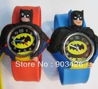 Free shipping by DHL! 100pcs/lot ! Fashion Cartoon Snap Watch Batman Kids Slap Wristwatch G2089 on Sale Wholesale