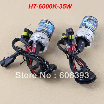 C18 Free Shipping 1Pair Car Auto Replacement Xenon HID H7 35W 6000K Head Light Headlight Bulbs Lamp