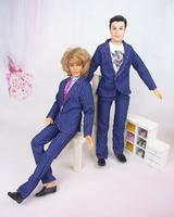 (3 off 13 usd) Clothes blue suit Outfit Trousers Pants for Ken Dolls