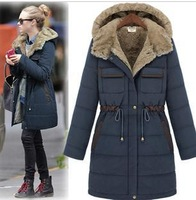 2012 white new dress down jacket female coat coat female medium style eiderdown outerwear