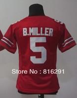 Women lady Ohio State Buckeyes #5 Braxton Miller 5 Red College American Football Jersey  jerseys