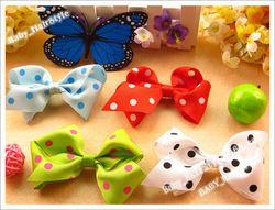 50pcs Baby Gril's Hair Ribbon Handmade Butterfly Knot + Hairclip Hairbows Kid's Hair Accessories(China (Mainland))