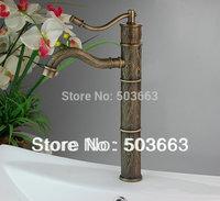 Top grade Unique Deck Mount Bathroom & Kitchen Basin Faucet Antique Pattern Mixer Tap H-029 Mixer Tap Faucet