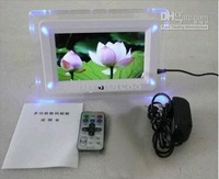 7 inch LCD Digital Photo Frame LED flash light With MP3 MP4 Player special gift