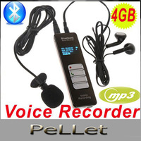 Wireless Bluetooth Voice Recorder Mobile Cellphone Telephone Call Voice Audio Recorder Dictaphone Mp3 Player 4GB  Free Shipping