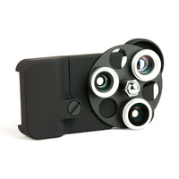 3 in 1 Lens Dial for iPhone 4/4S Dial Turtle Jacket Dial Lens Wide Angle Fisheye Telephoto Lens Free shipping