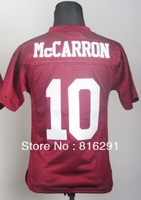 YOUTH KIDS Alabama Crimson Tide #10 AJ McCarron 10 red Crimson College American Football Jersey  jerseys