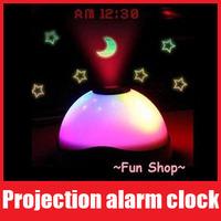 LED Color-Change Magic Projection Alarm Clock