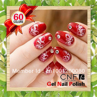 6Pcs/Lot CNF-New Arrival 60 Color To Choose UV LED Gel Polish Soak-Off Soak Off Nail Polish Nail Art Nail Manicure